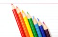 Rainbow colorful crayon Royalty Free Stock Image