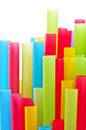 Rainbow colorful drinking straws Royalty Free Stock Photo