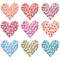 Rainbow Colorful Heart Shape Set Royalty Free Stock Photo