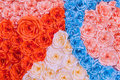 Rainbow Colorful Rose Flower Paper background Royalty Free Stock Photo