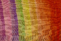 Rainbow colors on canvas retail at a magnification art Stock Image