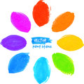 Rainbow colors marker stains flower felt tip pen Stock Photos