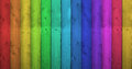 Rainbow colors on wooden background colorful wood with a vertical row of Royalty Free Stock Photos