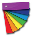 A rainbow colour book with shadows Royalty Free Stock Photography