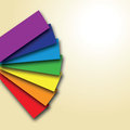 A rainbow colour book with shadows Royalty Free Stock Image
