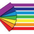 A rainbow colour book with shadows Stock Photo