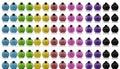 Rainbow Colour Bottles Royalty Free Stock Photo