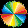 Rainbow colour film Stock Image