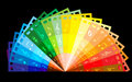 Rainbow colour film Stock Photos