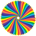 Rainbow colours as a round feather with isolate by computer generated Royalty Free Stock Photography
