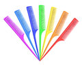 Rainbow comb on white background Royalty Free Stock Photography