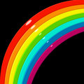 Rainbow corner Stock Photography