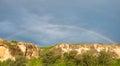 Rainbow in Crimea Ukraine Royalty Free Stock Photo