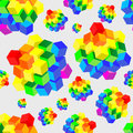Rainbow cubes pattern for seamless background. Vector illustration. Royalty Free Stock Photo