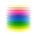 Rainbow cylinder layers Stock Photo