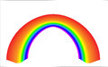 Rainbow d in the projection Royalty Free Stock Photography