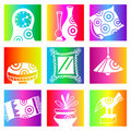 Rainbow decoration Royalty Free Stock Images