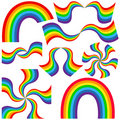 Rainbow design elements Royalty Free Stock Photography