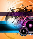 Rainbow Disco Background for Posters or Flyers Royalty Free Stock Images