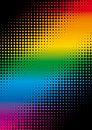 Rainbow dots Stock Photo
