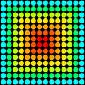 Rainbow dots seamless pattern. Vector illustration