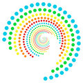 Rainbow dots spiral 2 Royalty Free Stock Photography