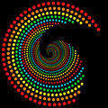 Rainbow dots spiral 2 Royalty Free Stock Image