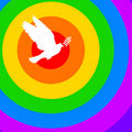 Rainbow dove Stock Images