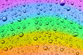 Rainbow drops Royalty Free Stock Photo