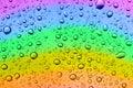 Rainbow drops Royalty Free Stock Photo