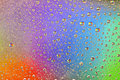 Rainbow Drops Water Rain Background Royalty Free Stock Photo