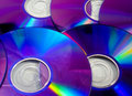 Rainbow dvd colorful background made from disks Stock Image