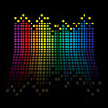 Rainbow equaliser Stock Photos