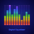 Rainbow equalizer on dark background vector illustration Stock Images