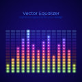 Rainbow equalizer on dark background vector illustration Stock Photo