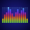 Rainbow equalizer on dark background vector illustration Royalty Free Stock Photo