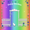 Rainbow fairy garden Royalty Free Stock Photos