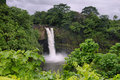 Rainbow falls in big island hawaii Royalty Free Stock Photo