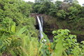 Rainbow falls on big island hawaii its one of the most beautiful waterfalls Royalty Free Stock Images