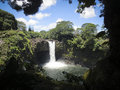 Rainbow Falls Hilo Hawaii Royalty Free Stock Photo