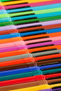 Rainbow felt-tip pens Royalty Free Stock Photos