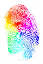 Rainbow Finger Print Royalty Free Stock Photos