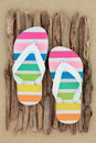 Rainbow Flip Flops Royalty Free Stock Photo