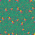 Rainbow flower seamless pattern