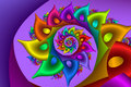 Rainbow fractal spiral Royalty Free Stock Photo