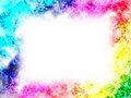 Rainbow frame Stock Photography