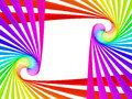 Rainbow frame Stock Image