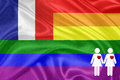 Rainbow gay Flag Stock Images