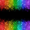 Rainbow glitter on black background. Vector