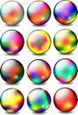 Rainbow Glossy Ball Set Royalty Free Stock Photo